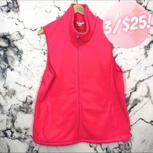 💖3/$25💖 Old Navy Florescent Pink Fleece Vest